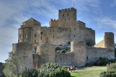 Loarre Castle is a Romanesque fortress in Huesca province, Aragon, Spain