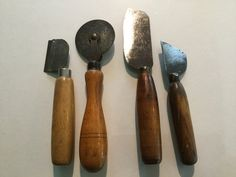 Vintage collection 4 cutting carving tools wallpapering woodworking leather cutter by Hannahandhersisters on Etsy