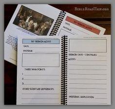Free Sermon Notebooking Journal