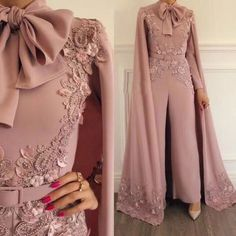 2019 New Arrival Fashion Rompers Dusty Pink Luxury Beaded Lace Evening Dress Panty Formal Dresses 2019 New Arrival Fashion Romper Dusty Pink Luxury Beaded Lace Evening Dress Panty Evening Dresses Pink Evening Dress, Cheap Evening Dresses, Mermaid Evening Dresses, Evening Gowns, Evening Party, Jumpsuit Prom Dress, Hijab Dress Party, White Jumpsuit, Party Gowns