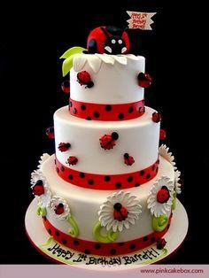 Pretty little lady bug cake!  Too cute! by regina