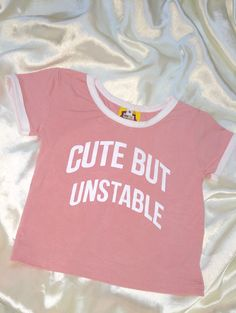 About me : 101% Cute. But unstable ;)   Round neck ringer crop tee All over stretch Cotton spandex blend Lightweight