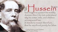 Charles Dickens on Imam Hussain (radi Allahu anhu)