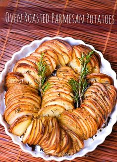 Sliced Potato Parmesan bake.  These look amazing!