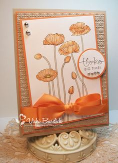 SU - Pleasant Poppies by Vicki Burdick, It's a Stamp Thing; crumb cake and pumpkin pie