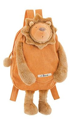 Beware!! This adorable Moulin Roty  plush backpack is sure to bring many compliments your way! Made with super soft fabrics and multi-dimensional details on the animal's head. Perfect for your little one to cart a...