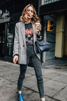 ed3147d47ae0 Fall outfit   Street style   Blazer   Inspiration   More on Fashionchick  Herbst 2018 Mode