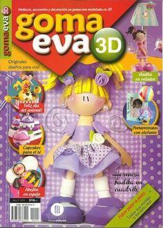 Revistas de manualidades Gratis: Revista de Goma Eva 3D Polymer Clay Christmas, Polymer Clay Art, Foam Crafts, Diy And Crafts, Inspirations Magazine, Cold Porcelain, Projects To Try, Creations, Decoupage