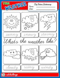 THE WEATHER PICTURE DICTIONARY