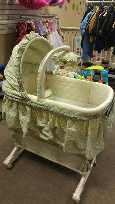 beautiful bassinet! Toddler Stuff, Babies Stuff, Cool Baby Stuff, Bassinet Cover, Future Baby, Baby Room, Dreams, Furniture, Beautiful