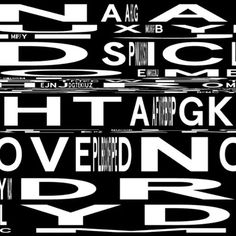 Zach lieberman - really interesting typographic experimentation though lacks application.