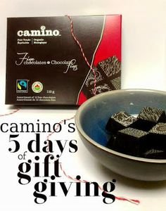 COLORFUL CANARY - Organic And Natural Living: Camino's 5 Days of Gift Giving : Organic Boxed Chocolates