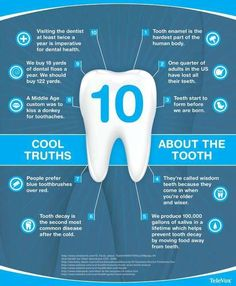 """""""Ten cool truths about the tooth! #DentalFacts"""""""