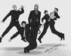 No word can describe how much I'm giggling right now... Doflamingo, Mihawk, Crocodile, Law, and Smoker One Piece