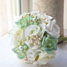 pink, white and mint colored flowers - Google Search