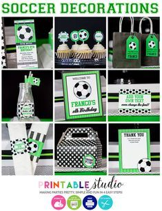 Soccer Birthday Parties, Soccer Party, Birthday Party Decorations, Craft Party, Soccer Ball, Football Birthday, Golf Party, Sports Birthday, Sports Party