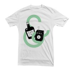 Gin And Juice Tee Men's, $22, now featured on Fab.