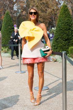 Fashion month street style trends: ruffles. Photo: Imaxtree