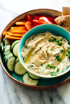 Epic Baba Ganoush Recipe - Cookie and Kate The best baba ganoush recipe, made with oven-roasted eggplant, tahini, olive oil, lemon juice and garlic! Best Baba Ganoush Recipe, Baba Ganoush Recipe Without Tahini, Oven Roasted Eggplant, Grilled Eggplant, Cookie Recipes, Vegan Recipes, Lebanese Recipes, Eat This, Recipe Please