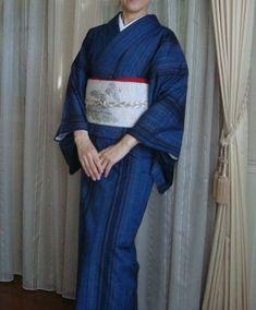 単衣の紬に八寸帯 - Belleの着物生活