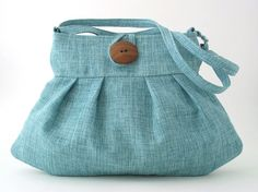 blue handbag, pleated purse, small and sexy tote bag, retro bag, messenger with adjustable bag strap by daphnenen on Etsy