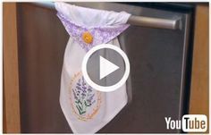 Free video with instructions on how to create an embroidered topsy towel.