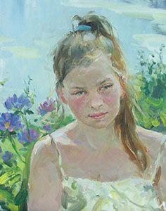 """Portrait #3"" by Vladimir Gusev, oil on canvas, 60x40 cm."