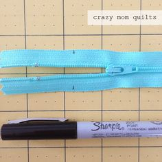 crazy mom quilts: sewing with vinyl and shortening zippers