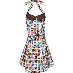 Girly apron. AND owls!? Must have.