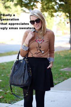 a generation that appreciates xmas sweaters