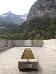 """Place For Meditation"" in the Uri Canton of Switzerland, by artist Johann Bossart with architects  Guignard Saner (1998), photographed by John Hill."