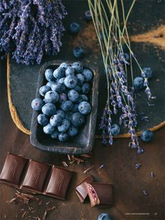 blueberries, lavender and chocolate...
