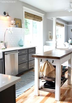 The Inspired Room - kitchens - Glidden - Polished Grey - Benjamin Moore Kendall Charcoal, Benjamin Moore White Dove, gray cabinets, gray cab...