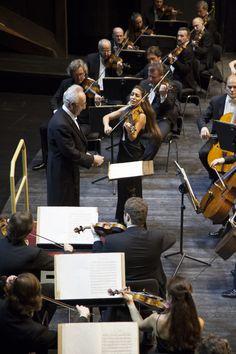 Leticia Moreno con Jurij Temirkanov e l'Orchestra Filarmonica di San Pietroburgo © Copyright Michele Borzoni / TerraProject / Contrasto