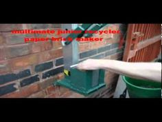 paper briquette maker paper brick maker - YouTube