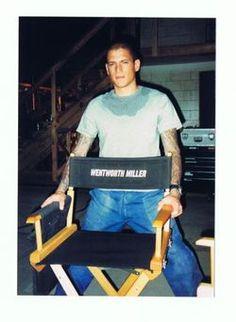 wentworth miller on set
