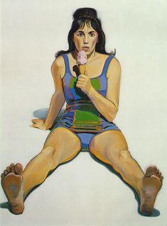 Wayne Thiebaud - Girl with Ice Cream Cone, 1963