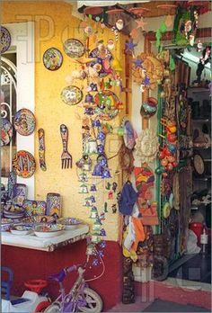 Photo of Busy Vendor Store in Flea Market in Cancun Mexico