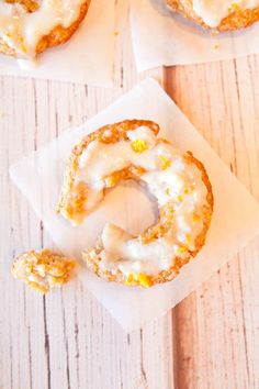 Baked Orange Coconut Banana Donuts