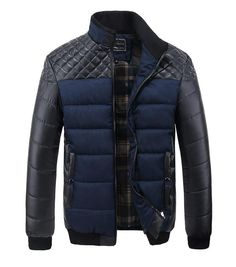 f35f36abf3f63 Winter Thick Men s Patchwork Jackets and Coats. Windbreaker JacketBlazer ...