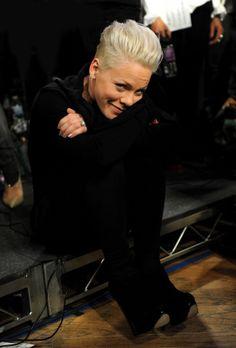 pinks smile