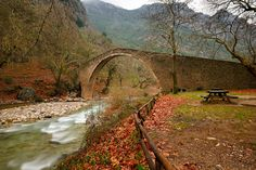Old stone bridge St. Vissarion by Nikos Zacharoulis on 500px