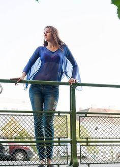 Design, See Through, Woman Clothing, Silk, Fashion Women, Blue, Design Comics