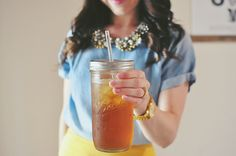 Can we say PERFECTION?? 24oz mason jar tumbler (fits in cupholders!) from The Mason Bar Company on Etsy (& reviewed by Yesterday's Sweetheart).