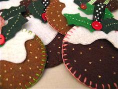 Blanket stitch, ribbon, felt and glitter
