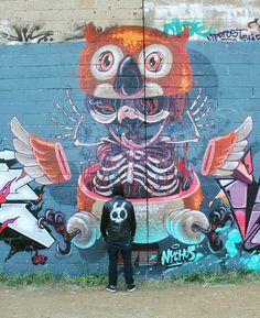 Artist Nychos  I love street art.