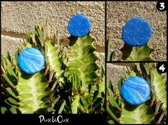 Anillos azules, #fimo, #arcillapolimérica, #polymerclay, #handmade, #hechoamano, #artesanal, #artesanía