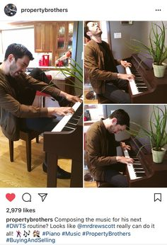 Drew Scott-is he really playing this piano? #PropertyBrothers