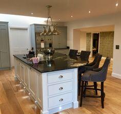 Kitchen Island, shaker cabinets & Marble worktop