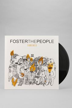 Foster the People - love this color scheme w/ the black and white illustrations w/ yellow over it!